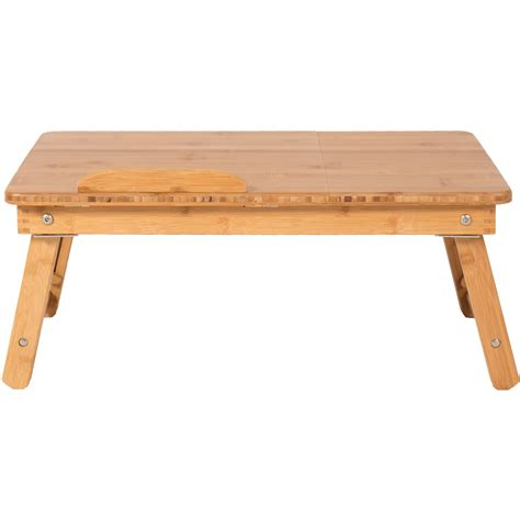 bed table tray 100 bamboo adjustable laptop desk table tilting top