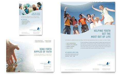 christian ministry flyer ad template word publisher