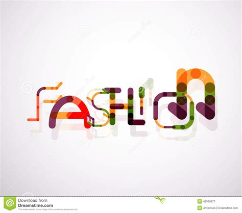 design fashion word fashion word font concept stock vector image of font