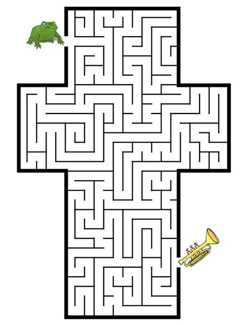 printable learning mazes maze maze to locate his trumpet on this free