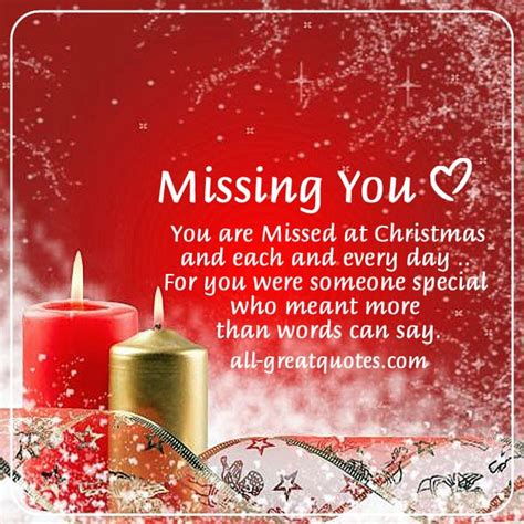 missed  christmas memorial cards  christmas