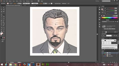 tutorial design adobe illustrator how to create digital art and marker style portrait with