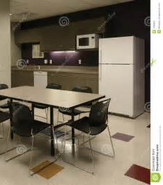 Office Kitchen Tables Office Room Cafe Employee Kitchen Space Stock