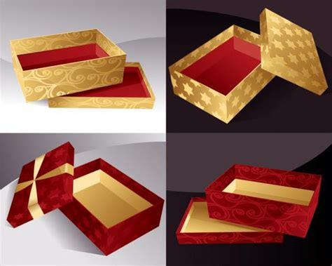 Box Hadiah Gold 豪華なプレゼント箱 gift packaging box vector free vector 4 you