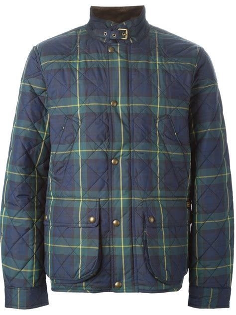 Ralph Plaid Quilted Vest by Polo Ralph Plaid Quilted Jacket In Blue For Lyst