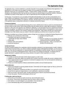 Essay Application Exles by Application Essay