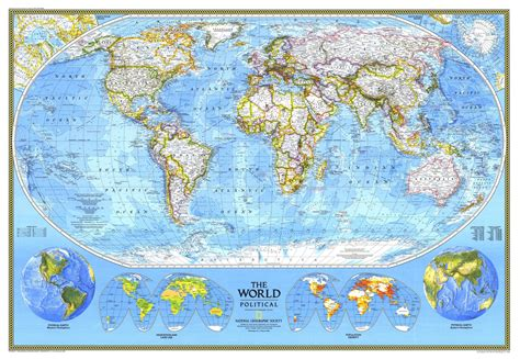 World Map Splendid Political Wall - national geographic world political map 1994 maps
