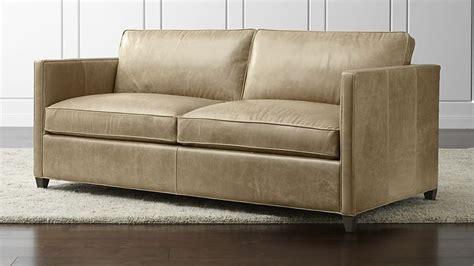 crate and barrel full sleeper sofa dryden leather full sleeper sofa saddles leather and