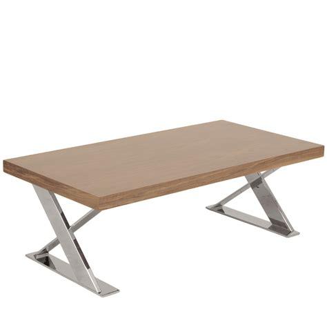 x base coffee table walnut chrome affordably modern