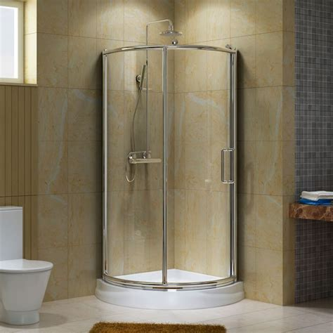 small corner showers 24 quot w economy add a shower kit with hand shower the o