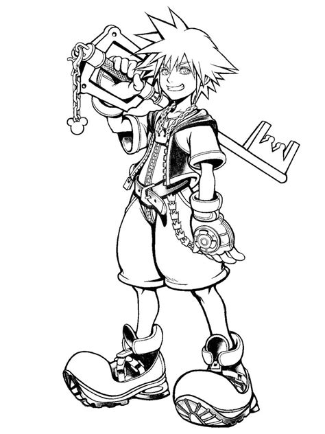 kingdom hearts coloring pages sora sora in kingdom hearts by 222shinta1 on deviantart