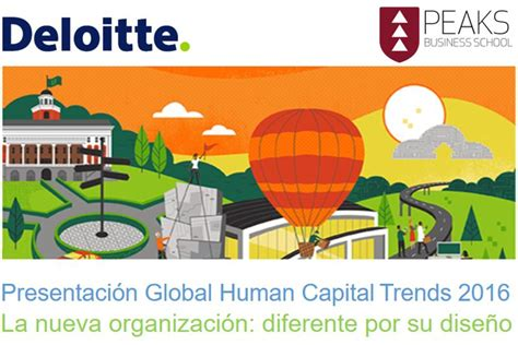 Deloitte S O Finance Usc Mba by Presentaci 243 N Tendencias Globales De Capital Humano 2016