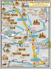 map of colorado mountain peaks collegiate peaks scenic byway map colorado vacation