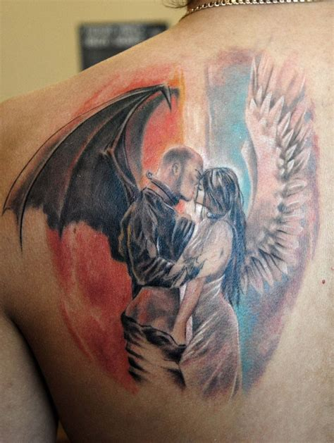tattoo angel demon 20 great devil and angel tattoo designs entertainmentmesh