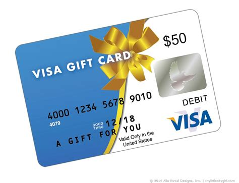 Gift Cards Visa - giveaway my little citygirl