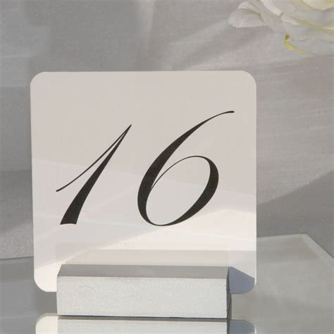 silver wedding table number holders silver table number holder