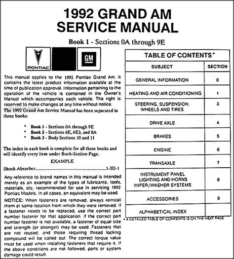 service manual small engine service manuals 1988 pontiac sunbird electronic toll collection service manual manual repair autos 1992 pontiac grand prix electronic valve timing service