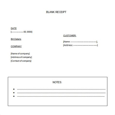 free receipt template word blank receipt template 20 free word excel pdf vector