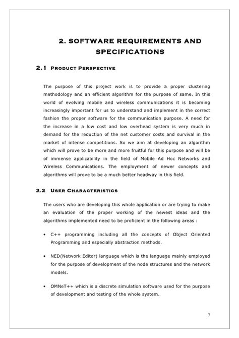 layout project report format final project report format