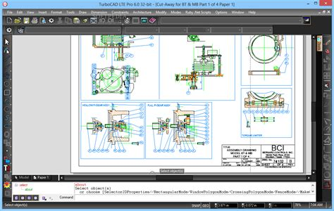 turbocad drawing template turbocad lte pro