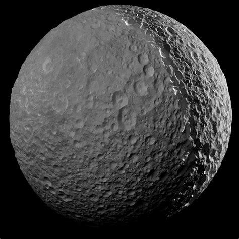 saturn moon mimas space images farewell to mimas