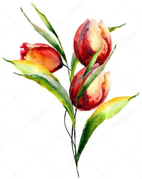 immagini fiori stilizzati fiori stilizzati tulipani foto stock 169 jershova 54658429
