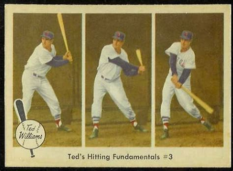 ted williams baseball swing 1959 fleer ted williams 73 hitting fundamentals 3 red