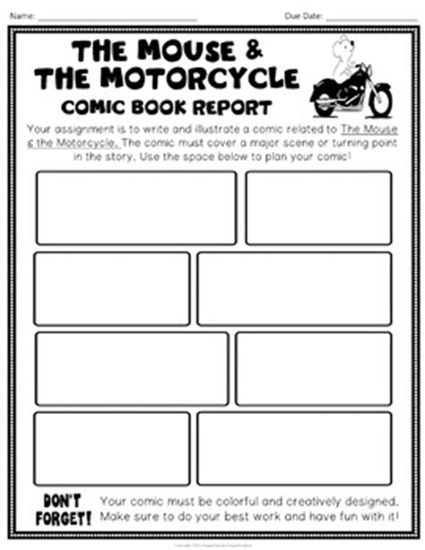 the mouse and the motorcycle book report the mouse and the motorcycle project design a comic