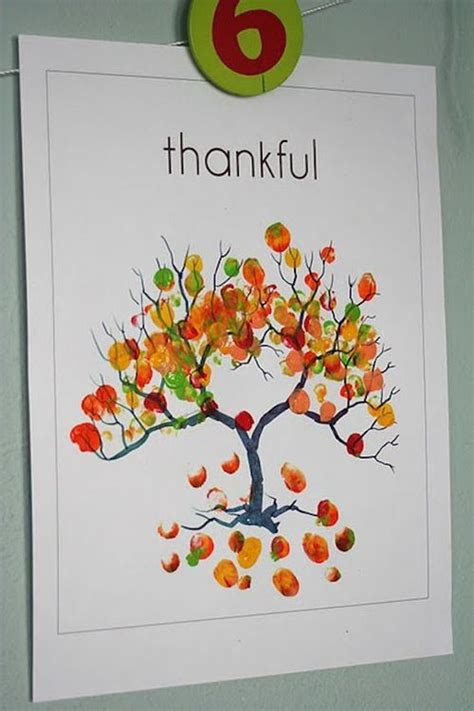 fingerprint tree card template 6 unique thanksgiving card ideas for signup