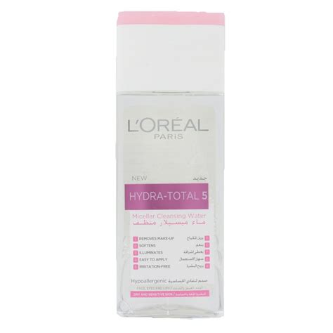 L Oreal Micellar Cleansing Water l oreal hydra total 5 micellar cleansing water 200 ml 163 1 95