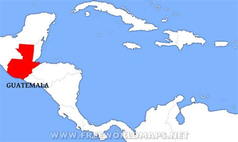 guatemala on world map where is guatemala located on the world map