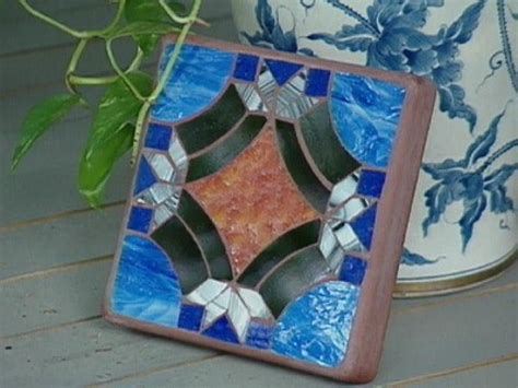 glass mosaic pattern maker how to make glass mosaic inlay tile hgtv