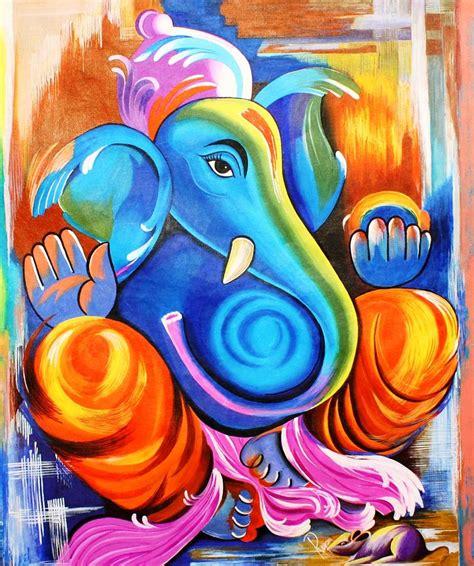 Ganpati Decoration At Home by Ganesh Chaturthi Ganesh Artwork Paintings