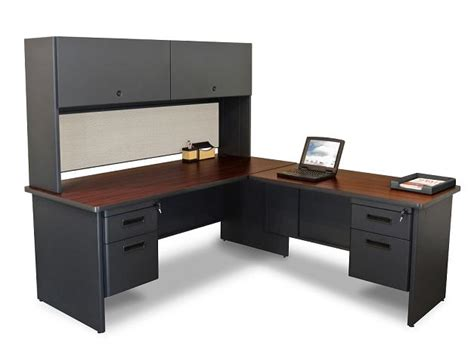 L Shaped Desk With File Drawers Marvel Prnt6 Pronto L Shaped Desk W 2 File Drawers