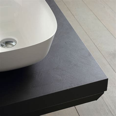 mensola per lavabo da appoggio mensola in legno per lavabo da appoggio grigia da 90 cm