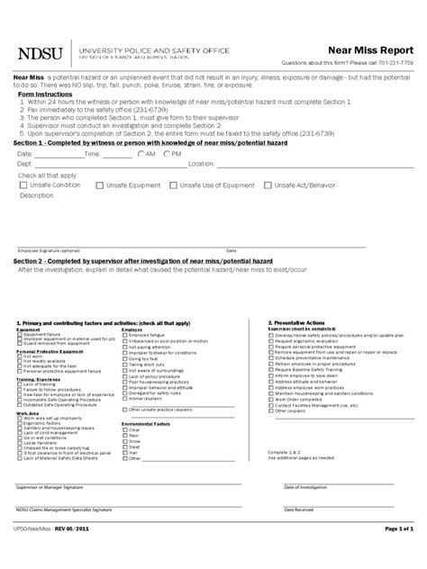 near miss report template near miss reporting form 2 free templates in pdf word
