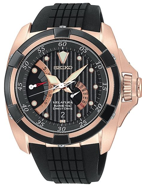 Seiko Velatura Rosegold Black 17 best images about kinetic on 6 months