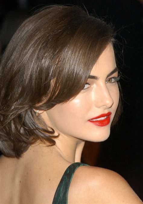 camilla belle medium length retro hairstyle