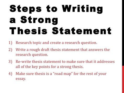 steps to writing a thesis how to write a thesis statement