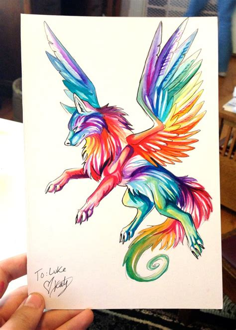 small rainbow wolf by lucky978 on deviantart