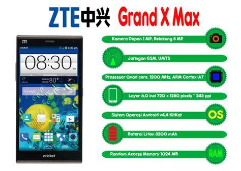 Hp Zte Grand X Max Plus harga dan spesifikasi zte grand x harga zte grand x max terbaru phablet android kitkat murah