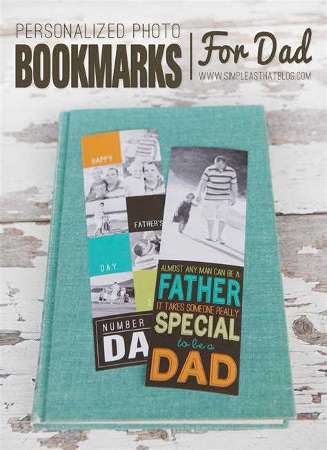 Handmade Fathers Day Gift - handmade s day gift photo bookmarks