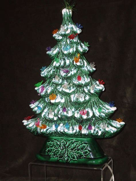 ceramic lit tree unique slim vintage ceramic tree light up tree