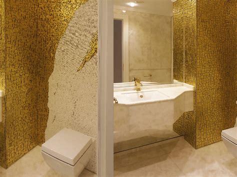 bagno oro bagno mosaico oro mattsole