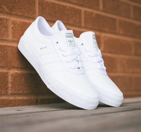 all white sneakers adidas skateboarding adi ease nestor all white