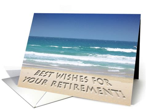 tropical beach retirement  wishes card
