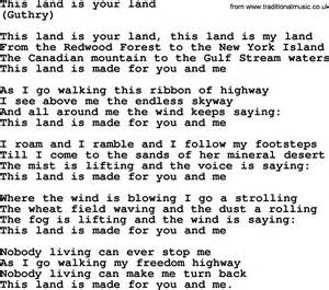 This Is Lyrics This Land Is Your Land By The Byrds Lyrics With Pdf