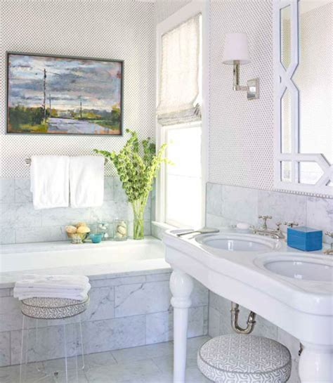 house beautiful bathrooms lucite stool transitional bathroom house beautiful