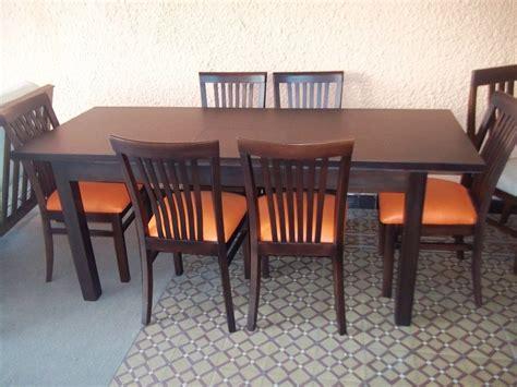 sillas de madera para comedor juego de comedor mesa extensible 6 sillas madera