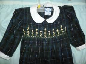 Carriage boutiques dress sz 24 months green plaid smocked ebay